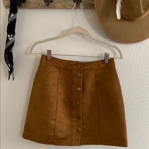 Old Navy tan suede mini skirt {brand new w•tags}